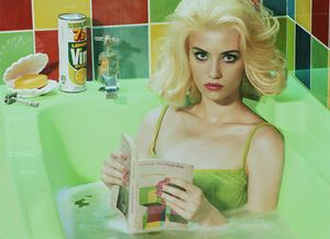 Miles Aldridge, Circling the Small Ads (after Miller), 2017.