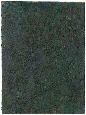 Untitled 4, c. 1984, oil on board, 40 x 30 in, 101.6 x 76.2 cm ©The Milton Resnick and Pat Passlof Foundation