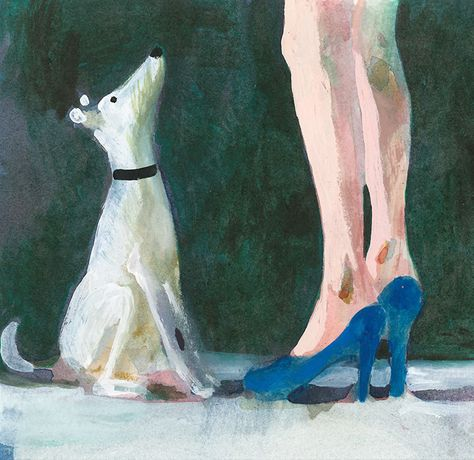 Charles Williams RWS, Dog and Blue Heels, watercolour