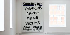 Minicab Rapist by Julia Wayne,  Vinyl, 1485 × 2100 mm, c. 2003