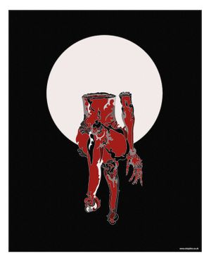 Red Torso (2016) Pen drawing and digital painting printed on paper