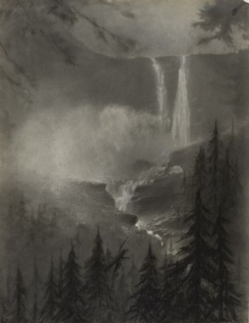 Rockies Waterfall, circa 1915 © The Estate of Minna Keene / courtesy Stephen Bulger Gallery