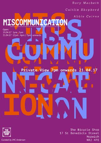 Miscommunication poster