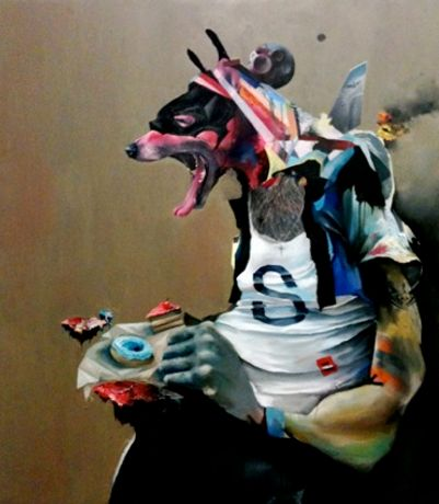 Mixed Doubles - Group show with Dan Baldwin, John Squire, Andrew McAttee, Joram Roukes and Sean Madden: Image 0
