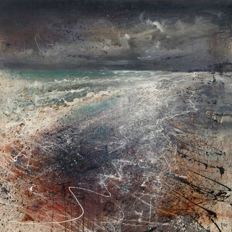 Anthony Garratt The Jurassic Coast 100 x 100cm