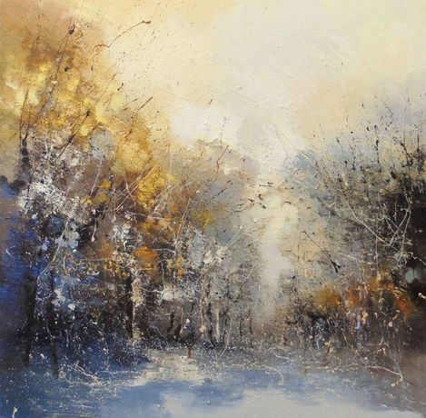 Claire Wiltsher Winter Melody 100 x 100cm
