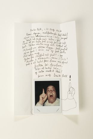 Dieter Roth, Letter to a Friend, 1989, courtesy of Safn Berlin