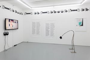 M'm! M'm! Good!, installation view, Rowing, London, 2015