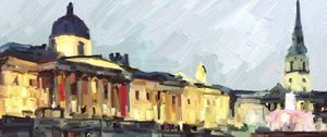 Digital drawing of the National Gallery by Joseph Connor © jacmobileart