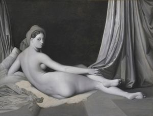 Jean-Auguste-Dominique Ingres and workshop, 'Odalisque in Grisaille' (detail), about 1824-34 ©  The Metropolitan Museum of Art / Art Resource / Scala, Florence