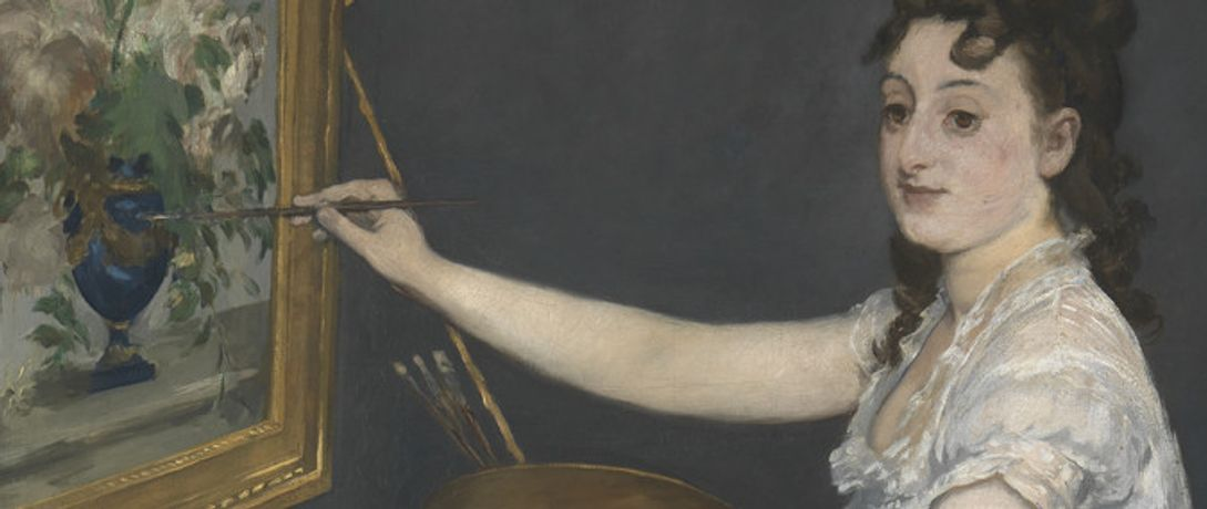 Detail from Edouard Manet, Eva Gonzalès, 1870