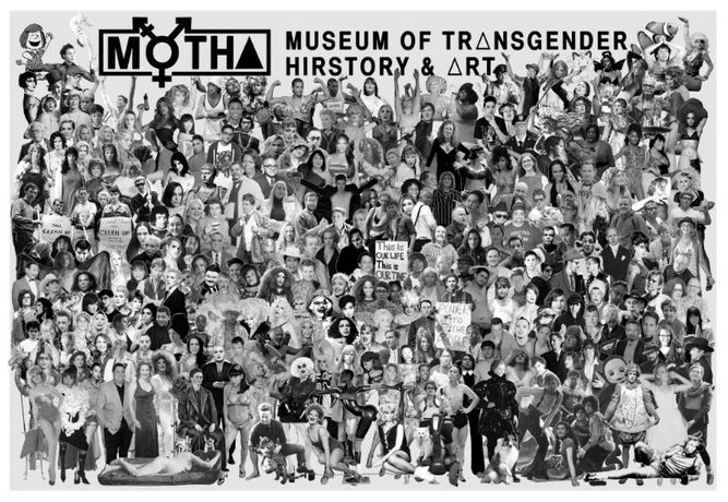 Chris E. Vargas, Transgender Hiroes, 2013. MOTHA promotional broadside, offset print on newsprint, 28 x 33 in (71 x 83.8 cm). Courtesy the artist