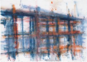 Land water .Aldgate 2010 .2010 .Watercolour, pencil on paper .55x79cm