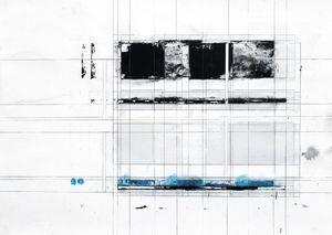 Dissolution . 108 1/7 . 2009 . Silkscreen print, pencil on paper . 52x72cm