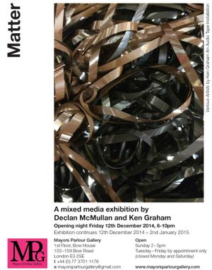 MPG Presents - Matter an exhibition by Declan McMullan and Ken Graham