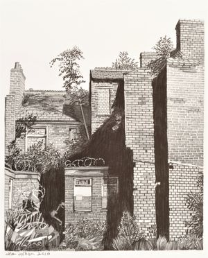 'Backyard, Ancoats', Pencil, 28.5 x 35.5cm, £325
