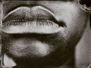 Myra Greene, Untitled (Ref. #10) from Character Recognition, 2006-2007, Black glass ambrotype, 3 x 3 4/5""