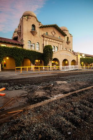Douglas McCulloh, Santa Fe Depot, San Bernardino , 2015. Digital Photograph, Designed by W.A. Mohr, Opened 15 July, 1918. Collection of the Riverside Art Museum.
