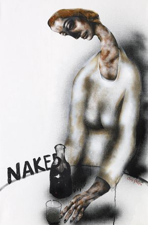 'Naked', Painting by Chris Gollon, Eleanor McEvoy Album cover.  SOLD