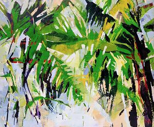 Jungle of emotions – oil on canvas  cm 100x120x4 by Marta Kisiliczyk