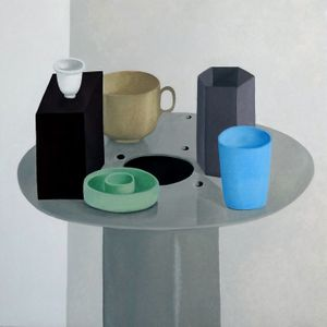 Nathalie Du Pasquier, A New Still Life, 2016. Oil on canvas, 100 x 100 cm. Courtesy the artist