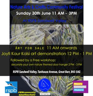 Nature Arts and Crafts Community Fesitival with Joyti Kaur Kalsi