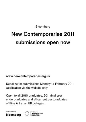 New Contemporaries 2011 submissions open now