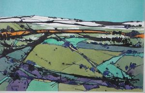 Nigel Priddey RBSA, 'Snow on High Ground' watercolour
