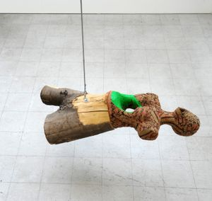 Koushna Navabi Untitled (Tree Trunk), 2017 Mixed media 45 x 150 x 38 cm (17¾ x 59 x 15 in) Courtesy the artist