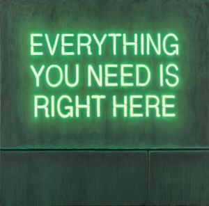 Dominic Bradnum - Everything You Need Is Right Here (oil on canvas)