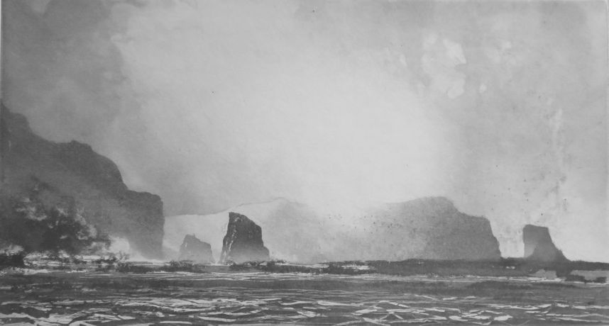 Norman Ackroyd, Slieve League, Etching