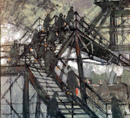 Pit Gantry Steps, Norman Cornish: The Definitive Collection, The Bowes Museum