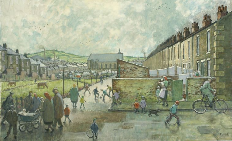 Back Weardale Street, Norman Cornish: The Definitive Collection, The Bowes Museum