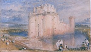 J. M. T. Turner (1775-1851), Caerlaverock Castle, c.1832, Watercolour on paper, Aberdeen Art Gallery & Museums Collections