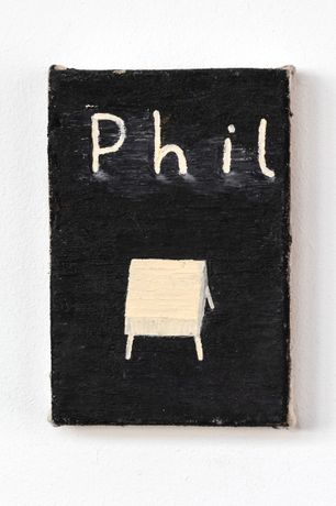 Sophie Barber, Phil at Night, 2017, oil on canvas, 15 x 10.1cm