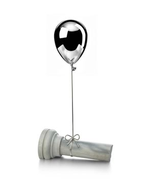 Silver and antique marble balloon