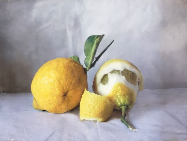 'Lemons' oil on paper 15 x 20cm  by Kate Verrion