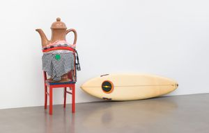 Cosima von Bonin, WHAT IF IT BARKS 7 (COFFEE POT VERSION),  2018, Courtesy of the artist and Petzel Gallery, New York