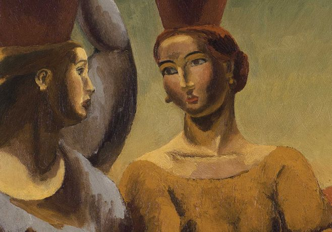DUNCAN GRANT (1885-1978)  Study after 'The Lemon Gatherers', detail, 1920, oil on canvas  121.9 x 86.4 cm (48 x 34 in). Image courtesy PIANO NOBILE