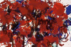 Sam Francis, Untitled, 1994, acrylic on canvas , 16 x 24 inches