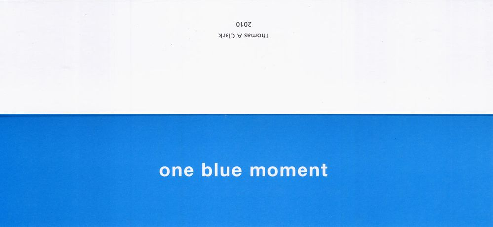 one blue moment: Image 0