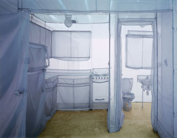 Do Ho Suh (born Seoul, South Korea, 1962). The Perfect Home II, 2003. Translucent nylon. Brooklyn Museum; Gift of Lawrence B. Benenson, 2017.46. (Photo: Courtesy of the artist and Lehmann Maupin Gallery)