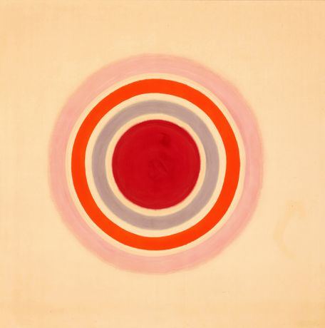 Kenneth Noland, Spring Call, 1961. Acrylic on canvas. 82.5 x 82.5 inches. 209.6 x 209.6 cm.