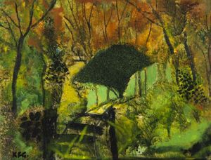 The Silhouetted Bush, Selborne. Keith Grant (born 1930)