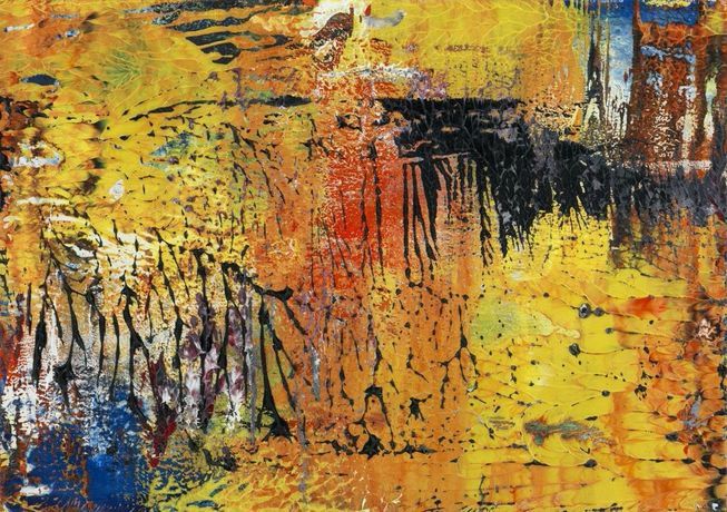 Gerhard Richter. Untitled (17.4.89), 1989. Oil on cardboard 11 5/8 × 16 9/16 in. (29.5 × 42 cm). Image courtesy of the artist and Zeit Contemporary Art, New York
