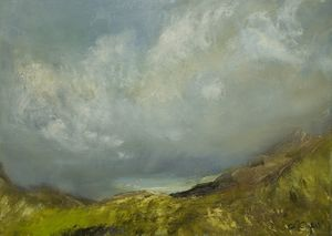 Oona Campbell's Over the Pass, Applecross 46 x 64 cm