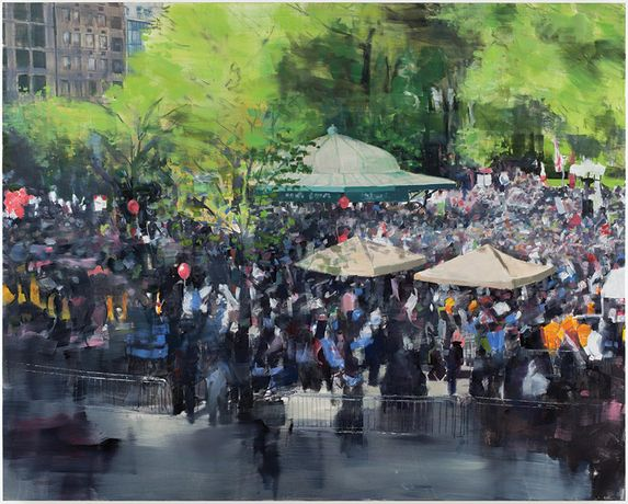 Oon Hassim, 'Occupy New York 2012', 122 x 152cm, Oil on canvas