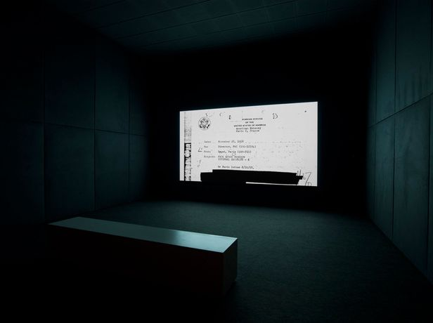 Steve McQueen (b. 1969), End Credits, 2012. Sequence of digitally scanned files, sound, continuous projection. Installation view: Schaulager, Basel, 2013. Courtesy of the artist; Thomas Dane Gallery, London; and Marian Goodman Gallery