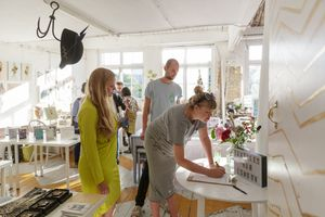visitors in studio 47