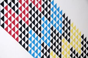 Patricia Zarate, Tri-Modulation (352), Paper, 92 x 64 inches (detail)